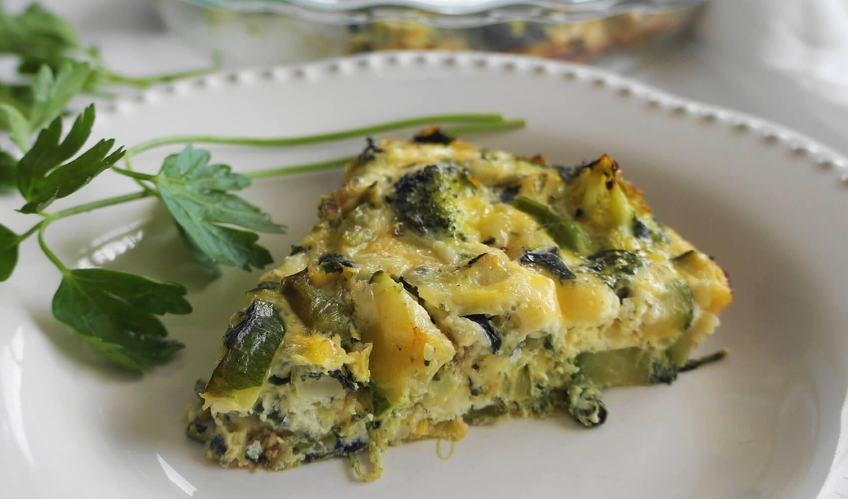 Super Green Vegetable Frittata