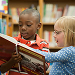 Children Reading at Library