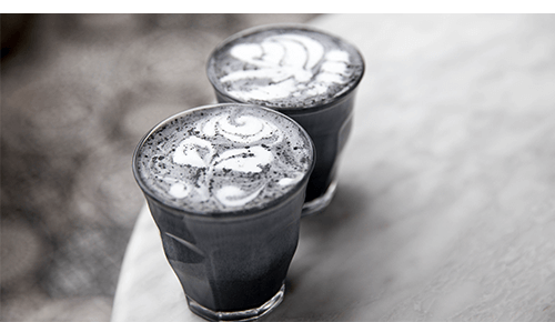 Charcoal Latte Drinks