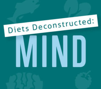 Infographic that says Diets Deconstructed: MIND