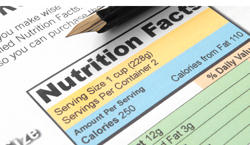 Serving Size on Nutrition Label