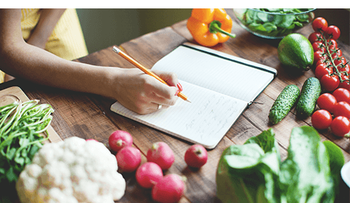 Make a Healthy Eating Plan Writing Food Diary