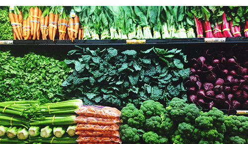 Choose In-Season Produce Variety of Vegetables