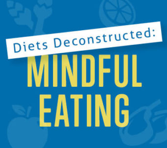 Infographic that says Diet's Deconstructed: Mindful Eating
