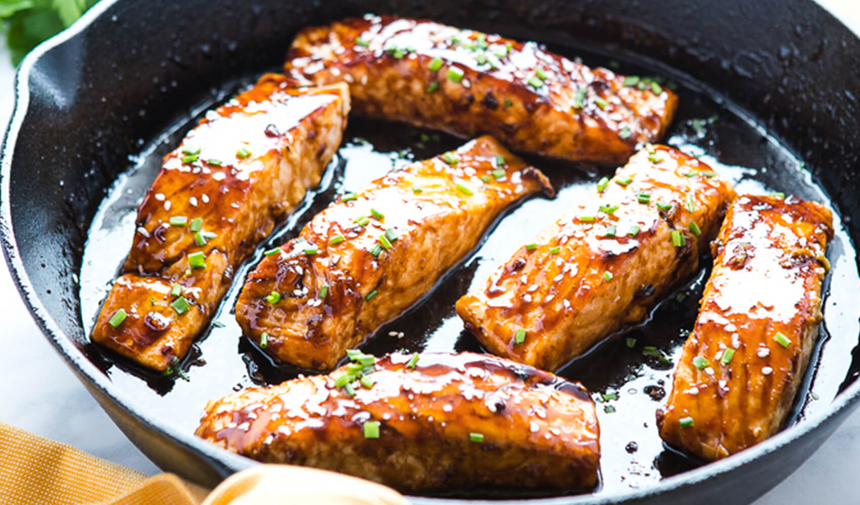 Easy One Pan Maple Glazed Salmon