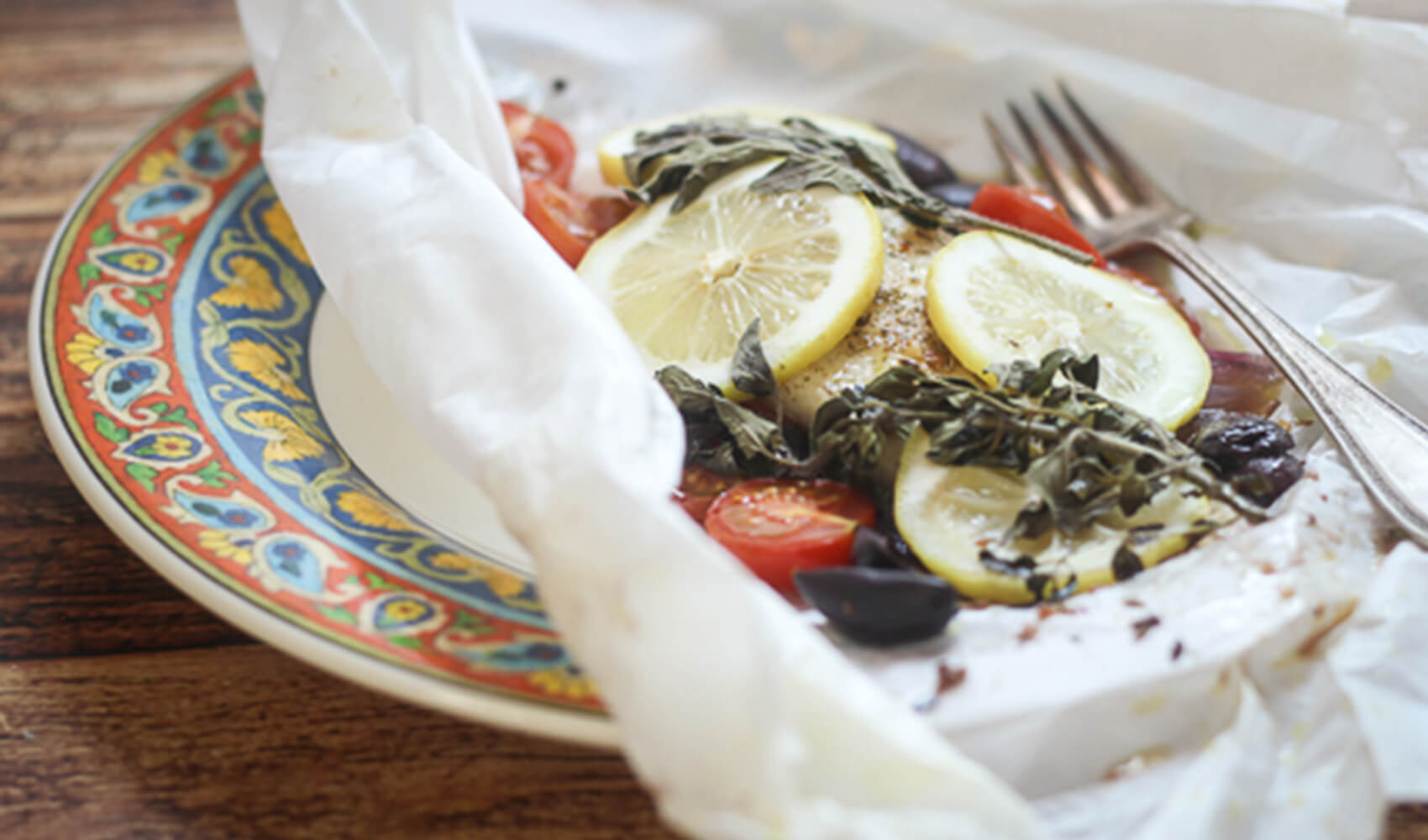 Greek Fish En Papillote
