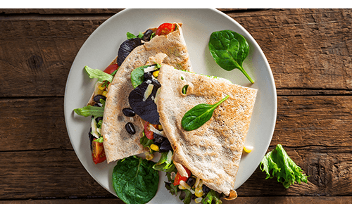 Whole wheat quesadilla