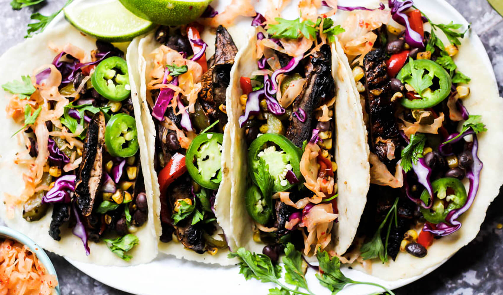 Grilled Vegetable Portobello Mushroom Tacos