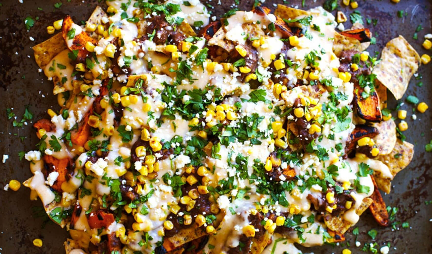Healthy Grilled Sweet Potato Nachos