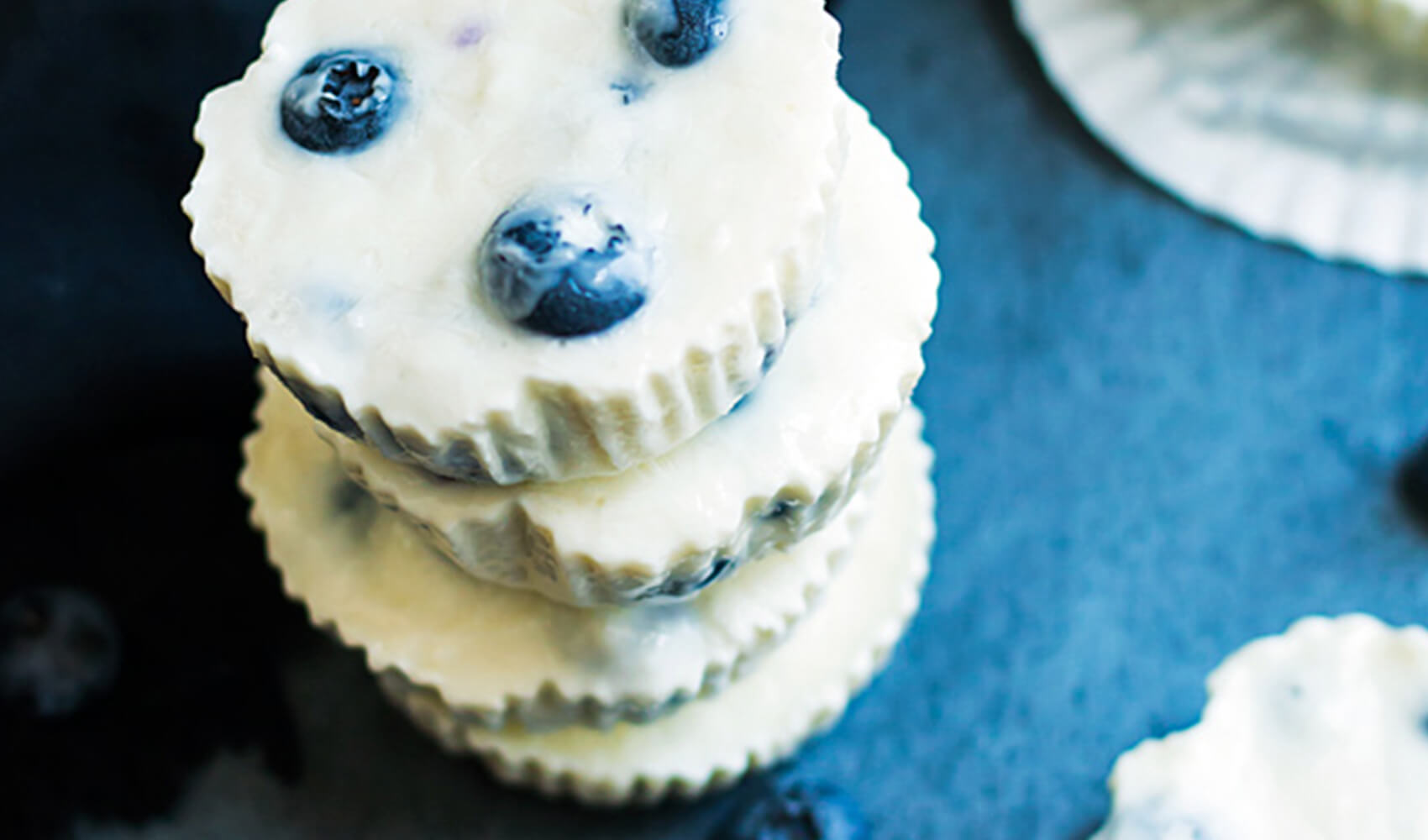 Lemon and Blueberry Frozen Greek Yogurt Bites