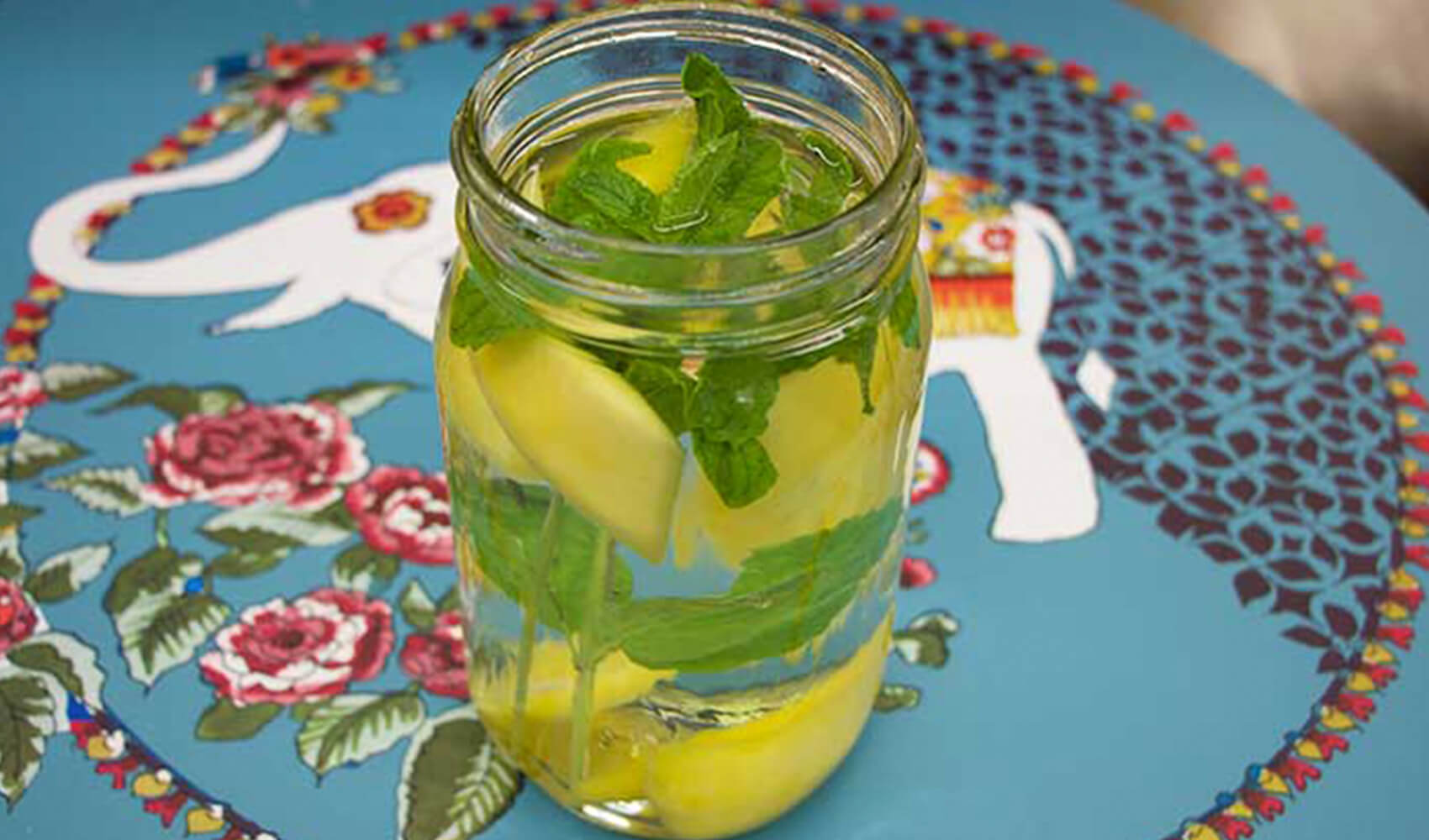 Mango Mint Infused Water