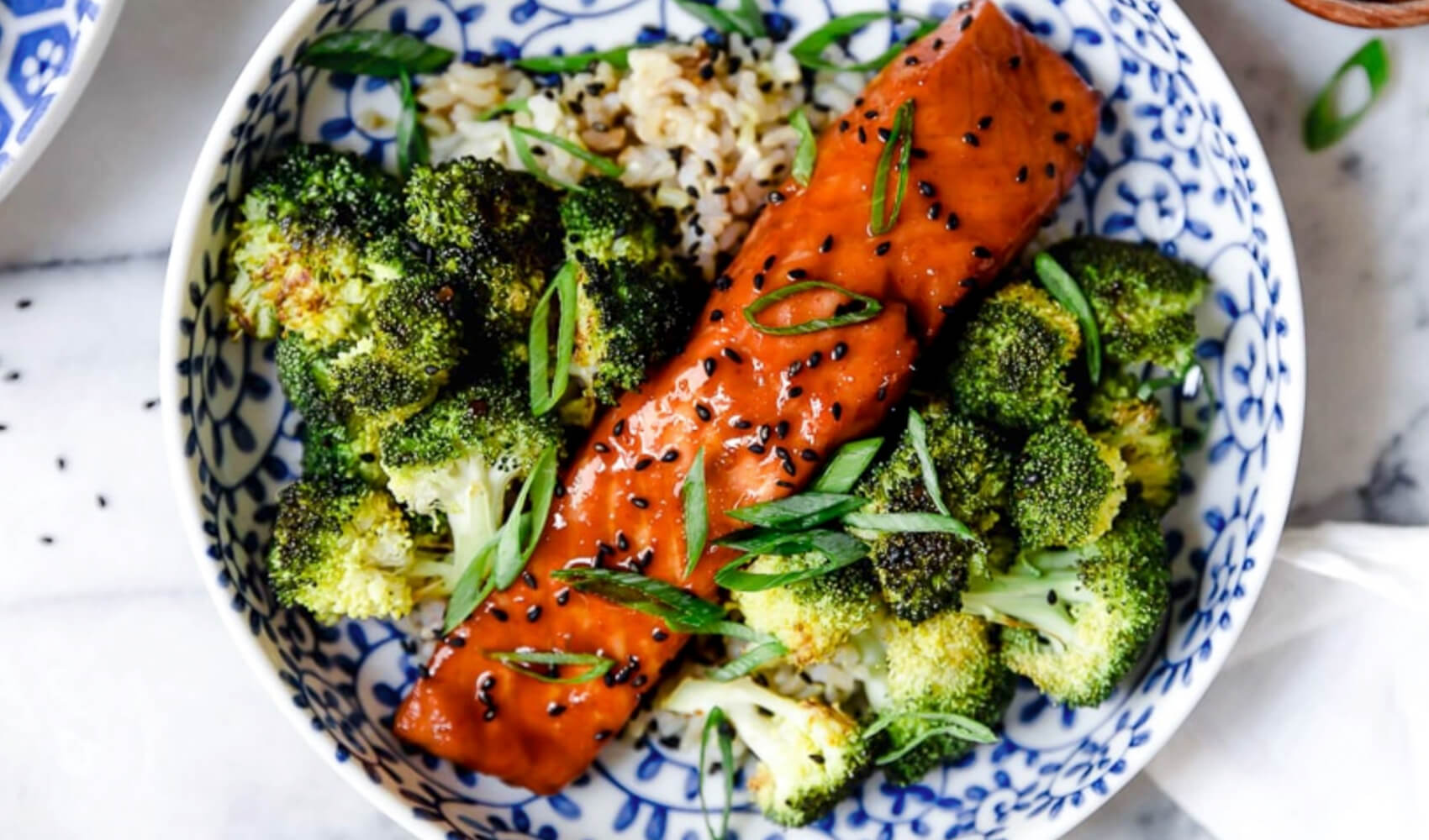Air Fryer Salmon with Maple Soy Glaze
