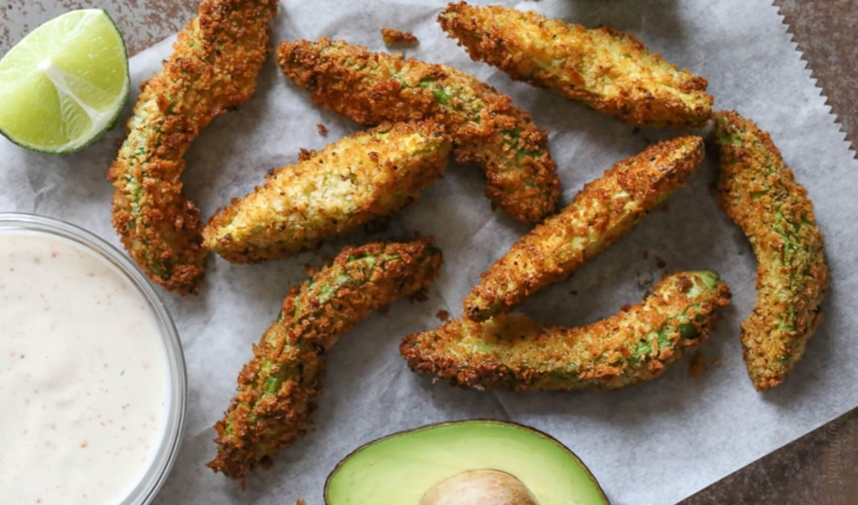 Avocado Fries with Lime Dipping Sauce