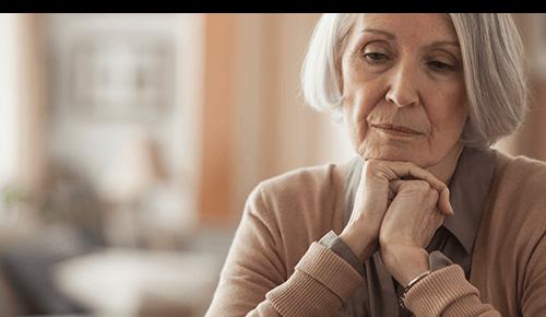 Older sad woman