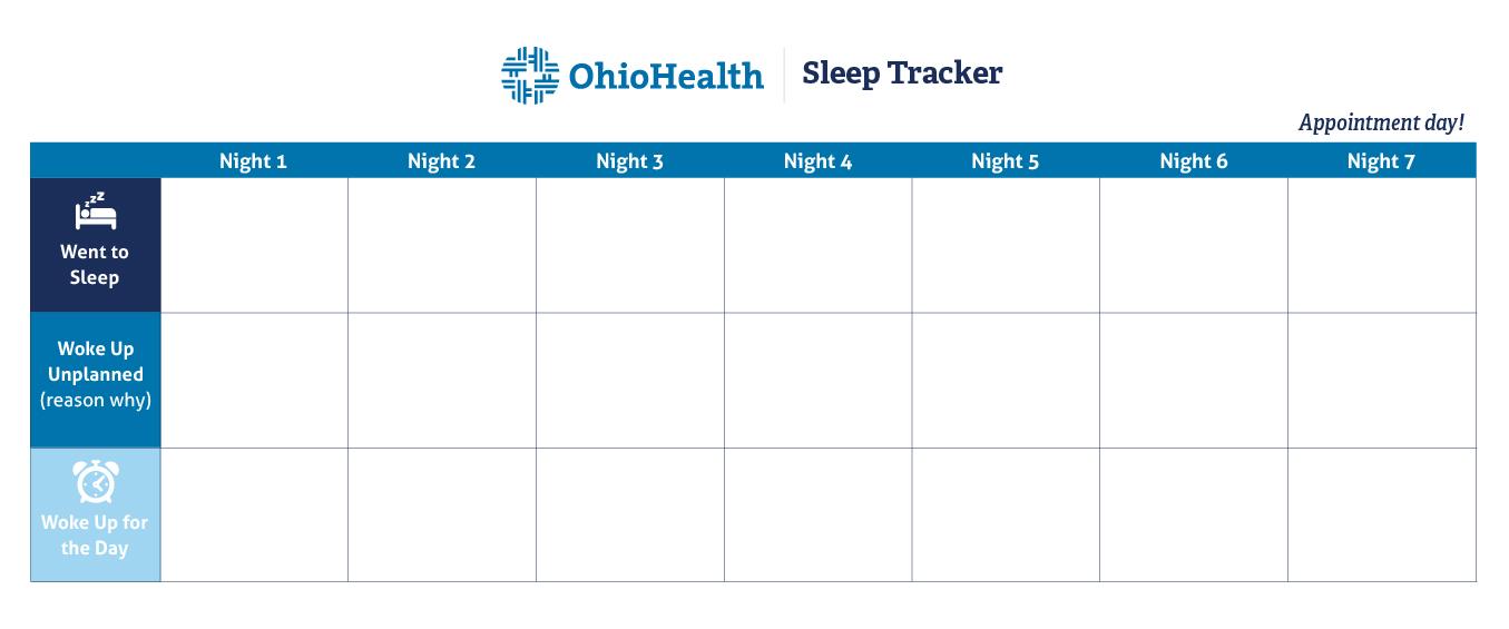 Sleep Tracker graph to print