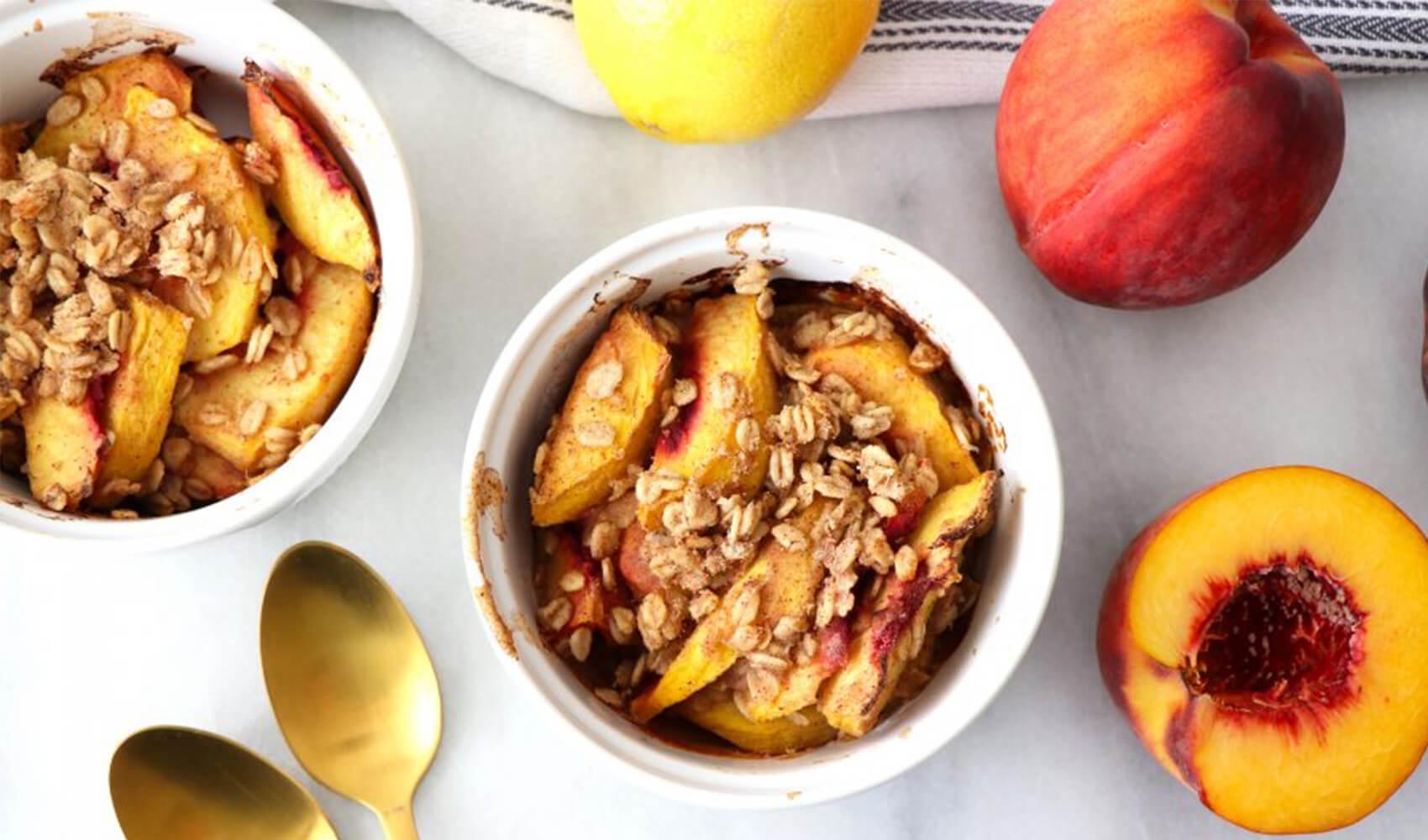 Baked Lemon Peach Cobbler