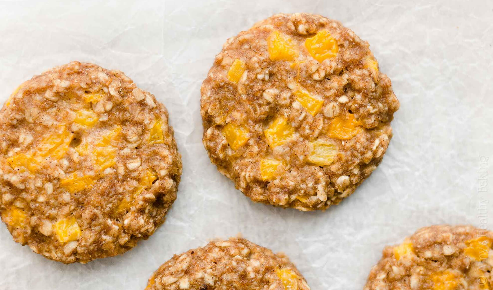 Dairy-Free Peach Oatmeal Breakfast Cookies