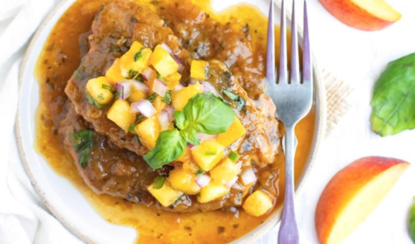 Instant Pot Pork Chops with Peach Salsa