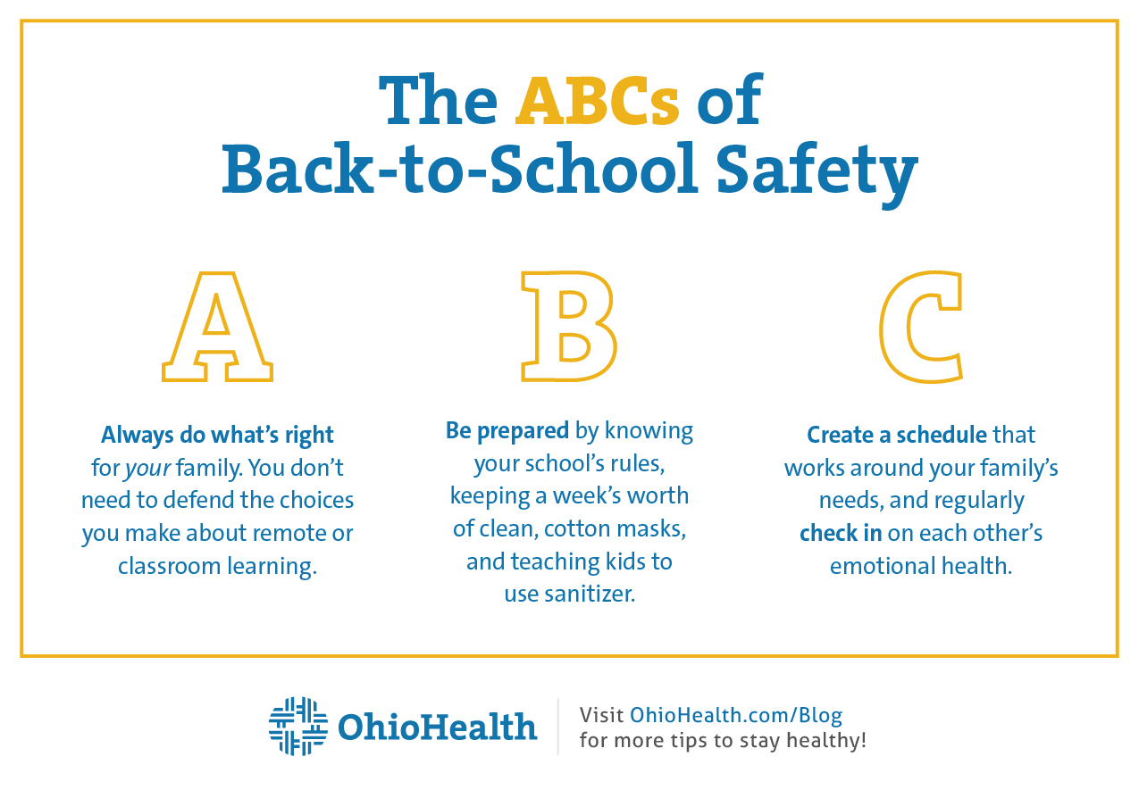 Infographic with tips for Back-to-School Safety