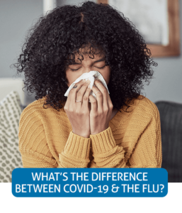 Go to Fast Facts page about differences between COVID-19 and the flu