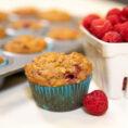 Oatmeal Raspberry Muffins